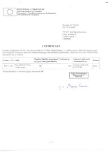 Certificate EC