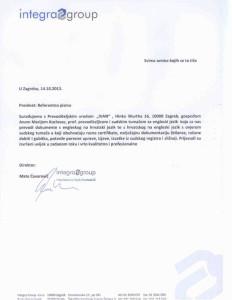 Referentno pismo